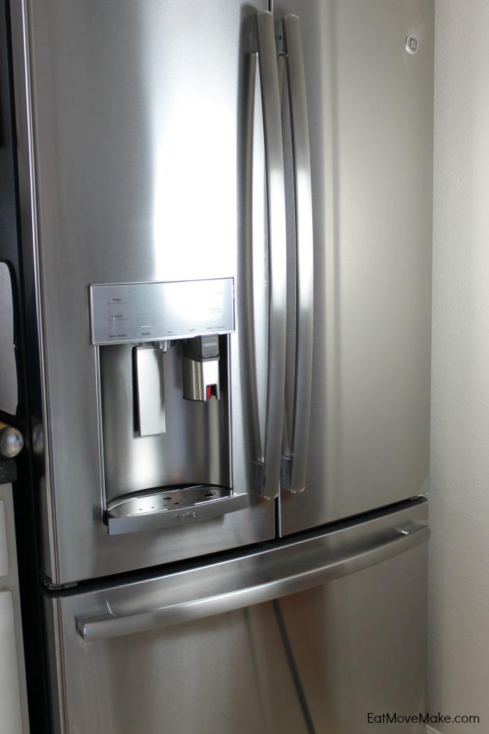 ge french door fridge with keurig brewer