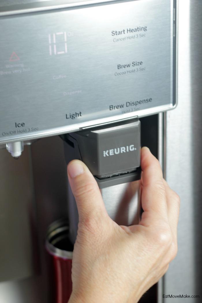 GE French Door Refrigerator with Keurig Brewer