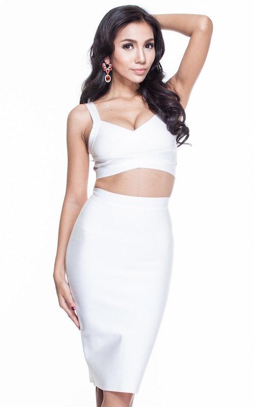 High waist two piece bandage dress