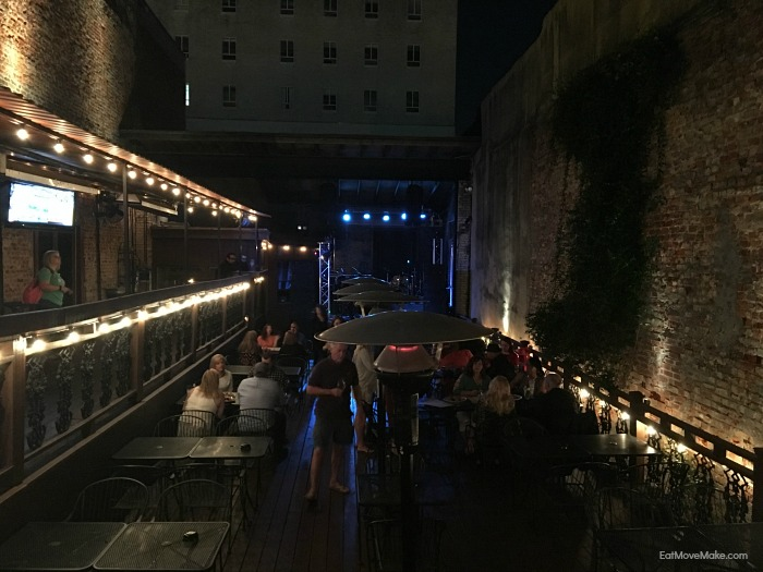 patio at Rick's on the Square - Tyler TX