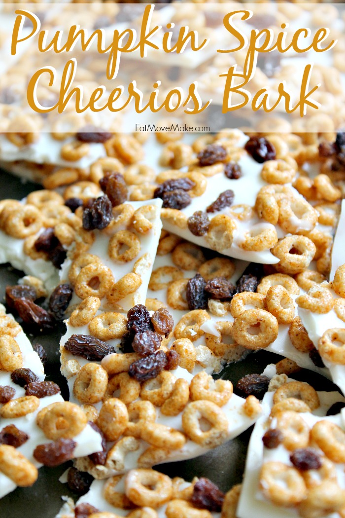 Pumpkin Spice Cheerios Bark