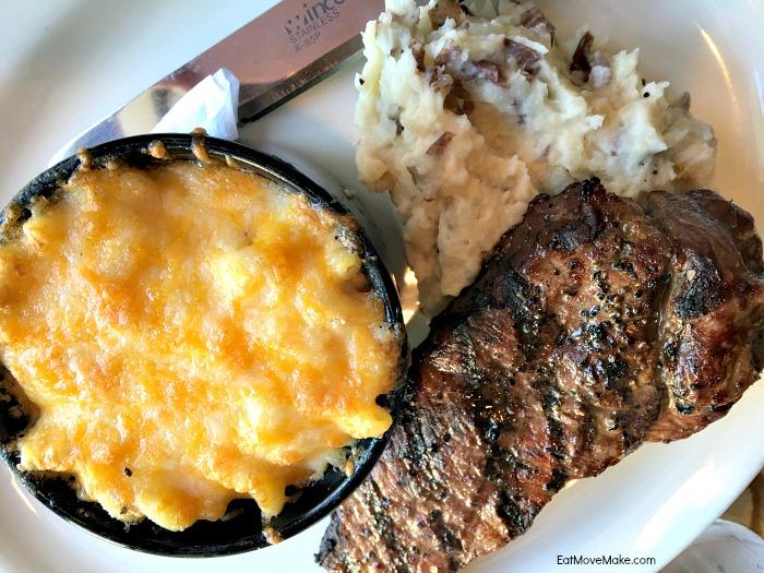 steak, potatoes, mac and cheese - Conch and Bucket Hampton VA restaurants