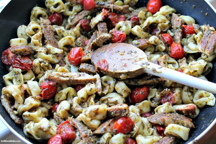 pesto and tortellini