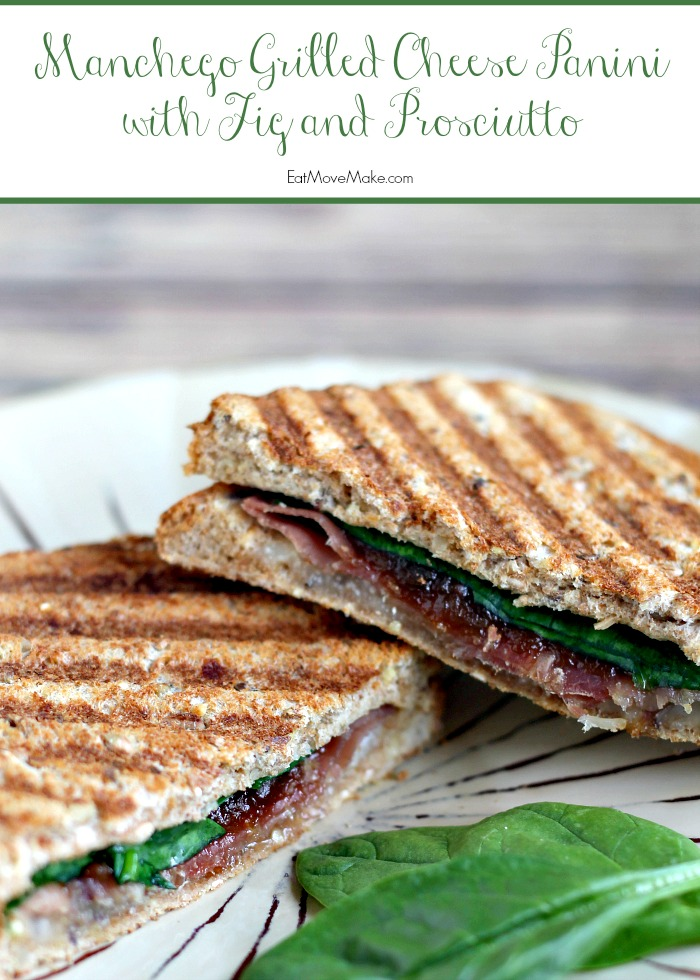 Manchego Grilled Cheese Panini with Fig and Prosciutto