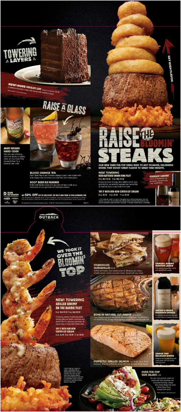 picture regarding Outback Steakhouse Printable Menu referred to as Outback Steakhouse Archives - Try to eat Shift Generate