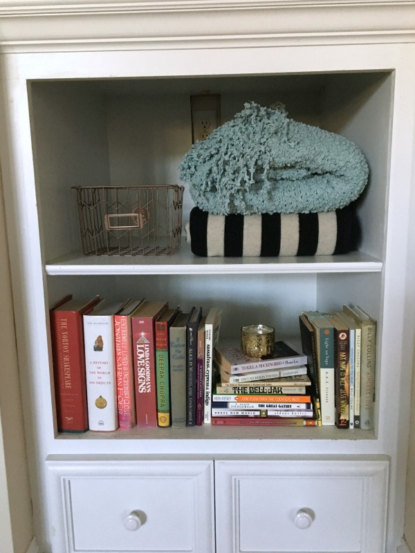 How to decorate deep built in shelves the blog box How deep should a bookshelf be