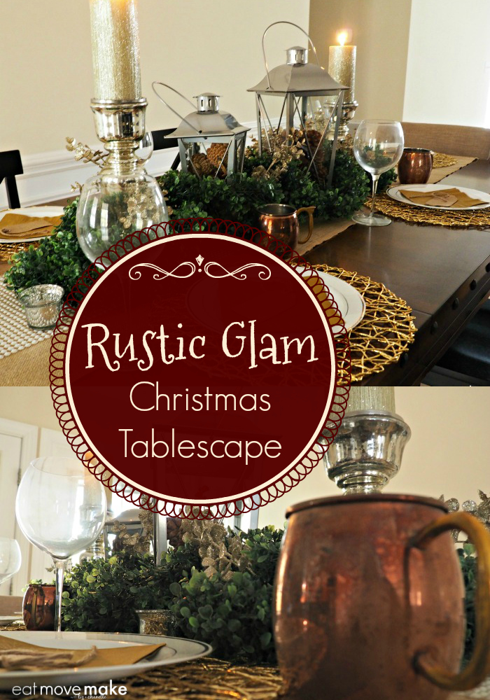 How to create a Rustic Glam Christmas Tablescape - DIY tutorial