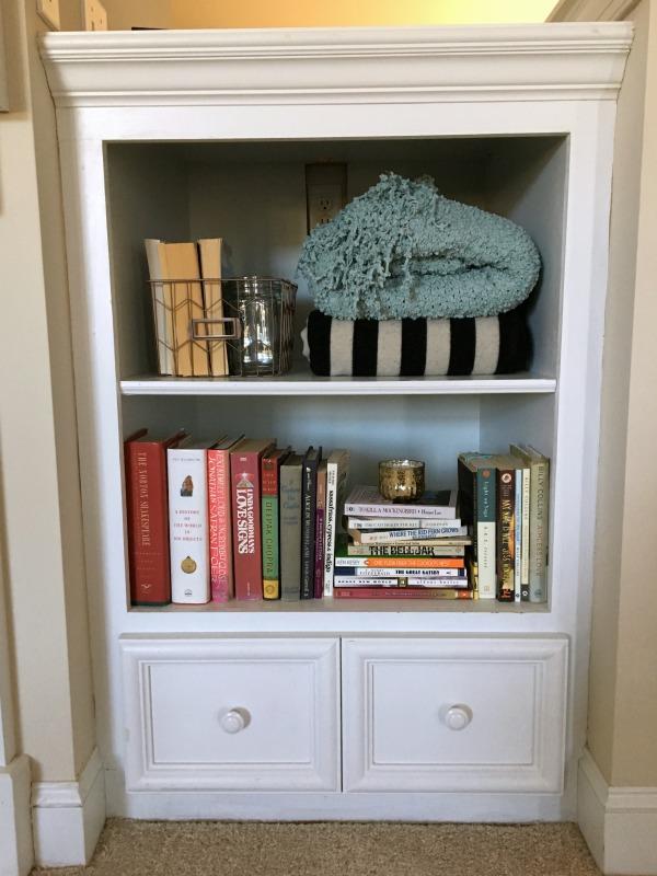 Styled deep bookshelf