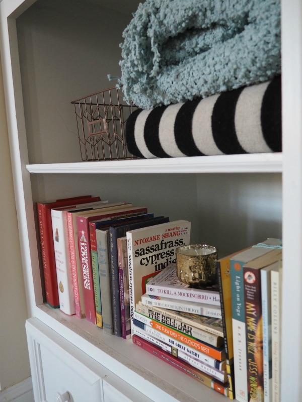 How To Decorate Deep Built In Shelves