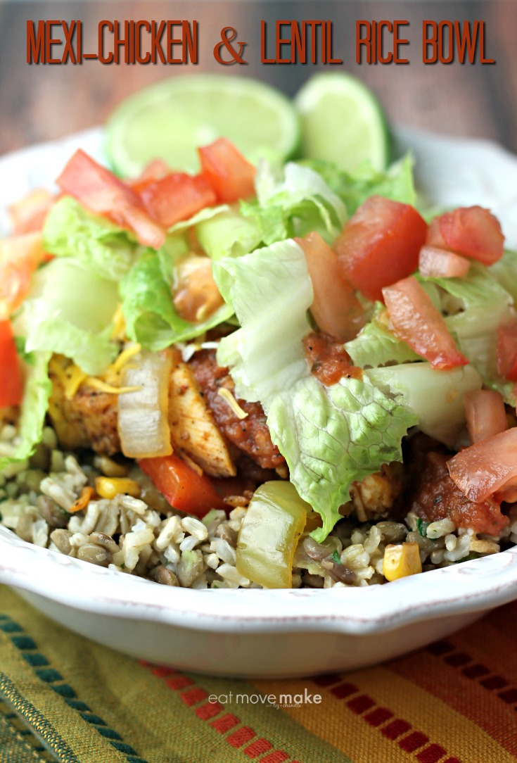 Mexi-Chicken and Lentil Rice Bowl recipe