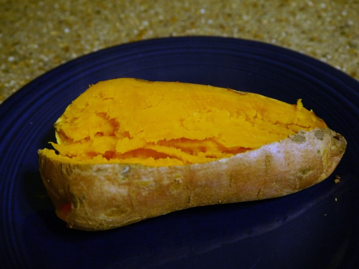 Tex Mex stuffed sweet potato