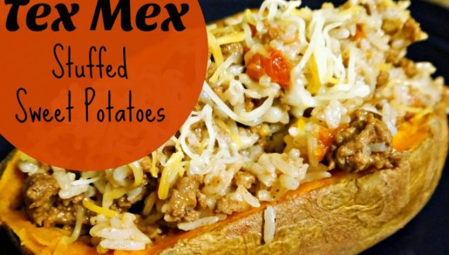Tex Mex stuffed sweet potatoes. Super simple & tasty comfort food