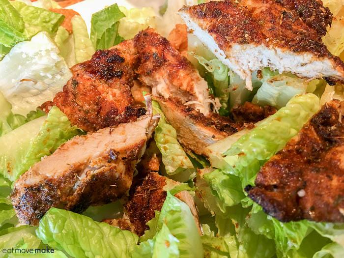 Bubba's Seafood - Cajun Chicken Caesar Salad