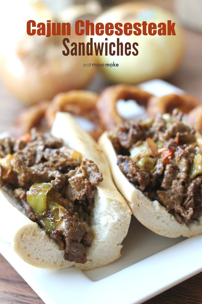Cajun Cheesesteak Sandwiches
