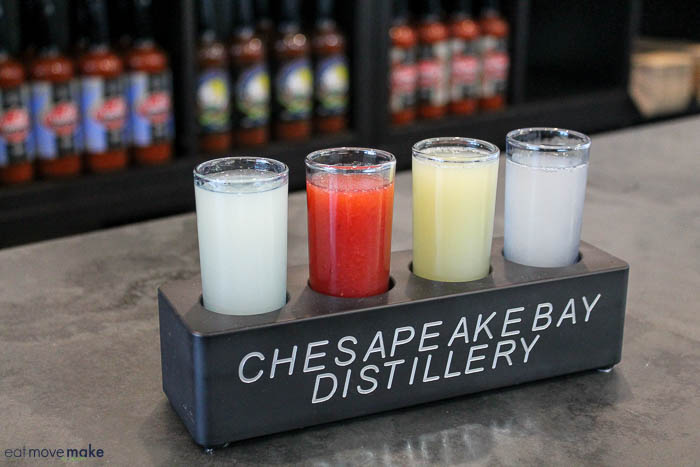Chesapeake Bay Distillery vodka tasting