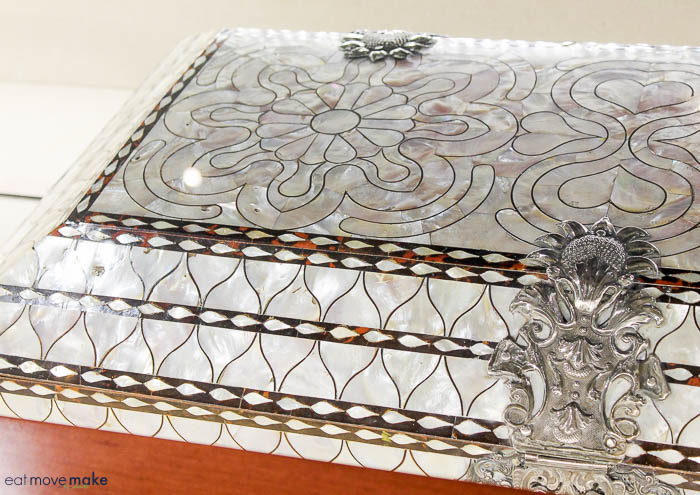 Mother of Pearl Chest from Spain - The Bryan Museum - Galveston TX