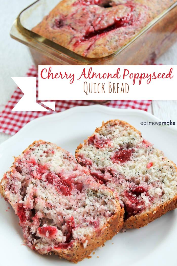 Cherry Almond Poppyseed quick bread recipe