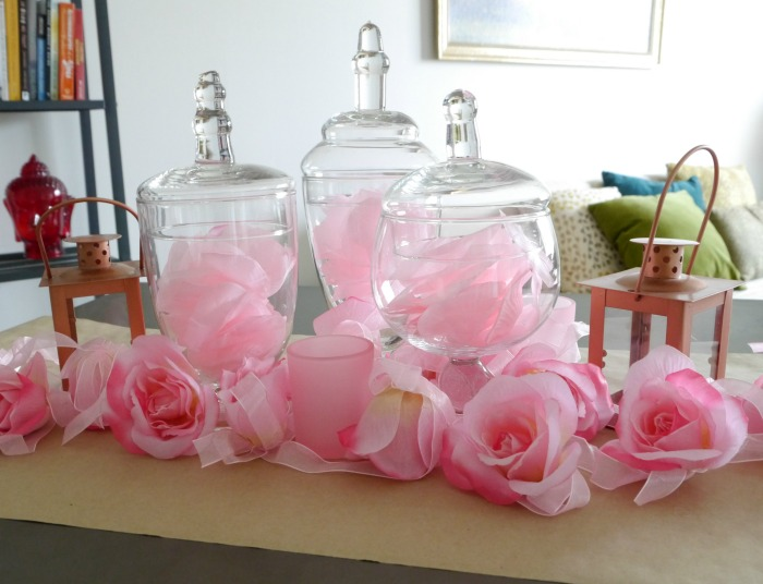 Oriental Trading pink tablescape