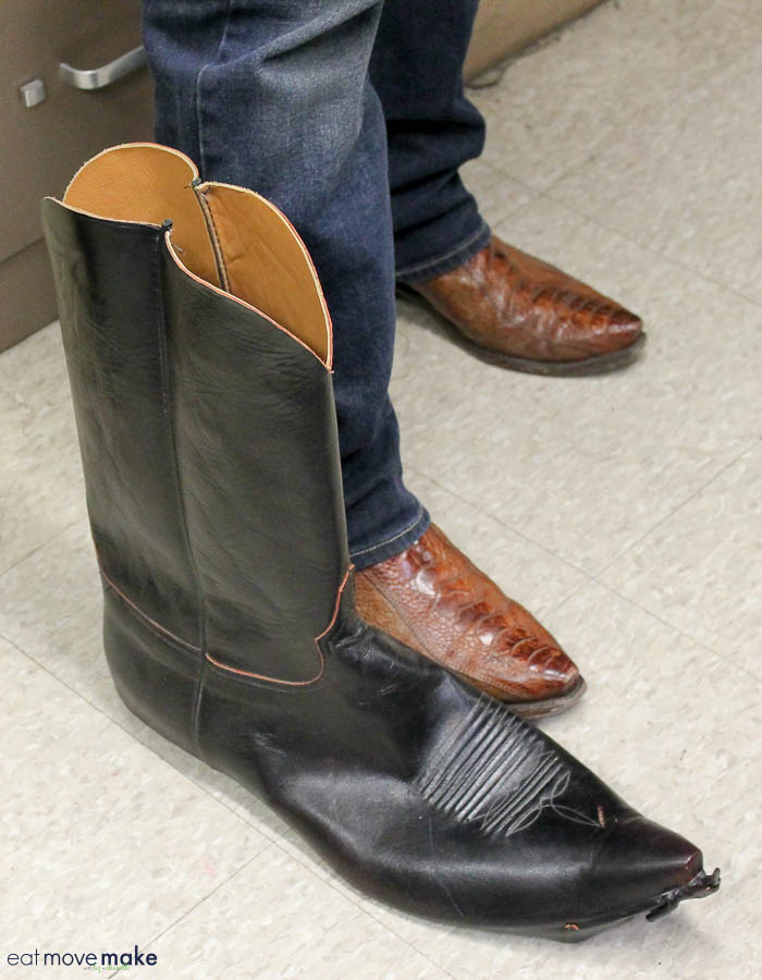 Andre the Giant's size 25 Lucchese boots