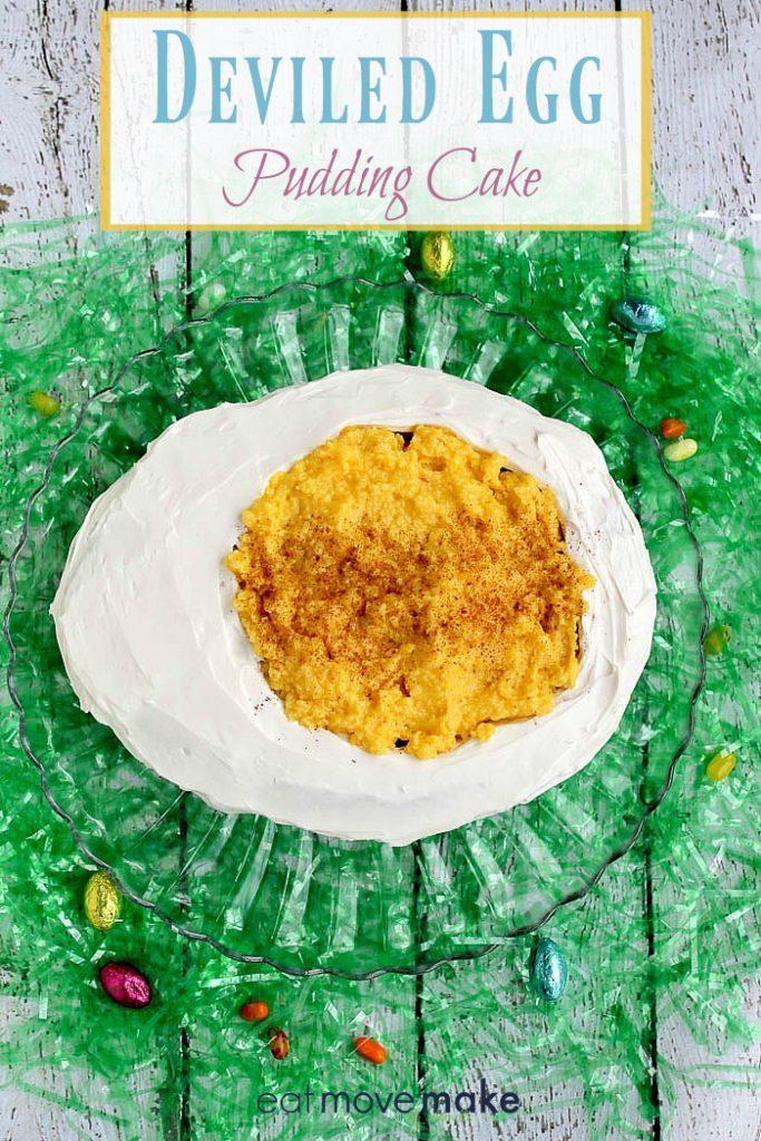 Deviled Egg Pudding Cake