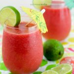 Strawberry Watermelon-Lime Summer Slush