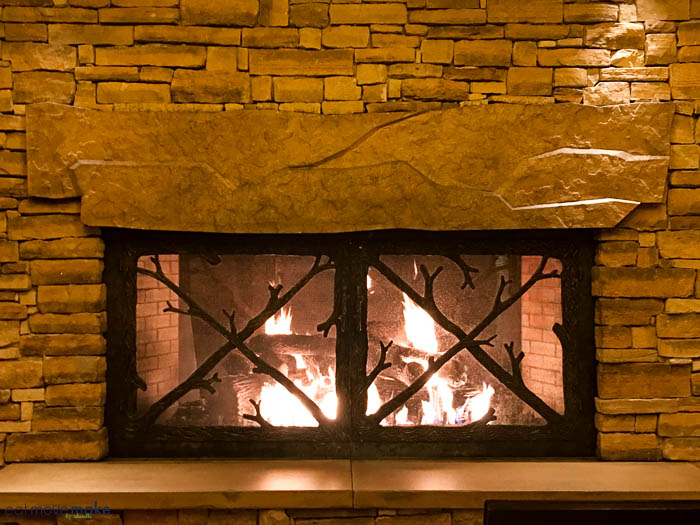 fireplace at L'Auberge