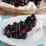 Upside Down Blueberry Whipped Cream Pie