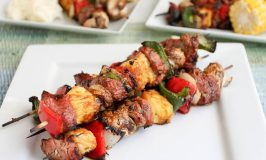 Grilled Pork Tenderloin Kebabs with Apricot Ginger Glaze