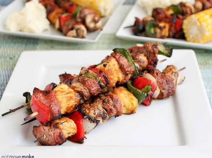 grilled pork tenderloin kebabs with apricot ginger glaze recipe