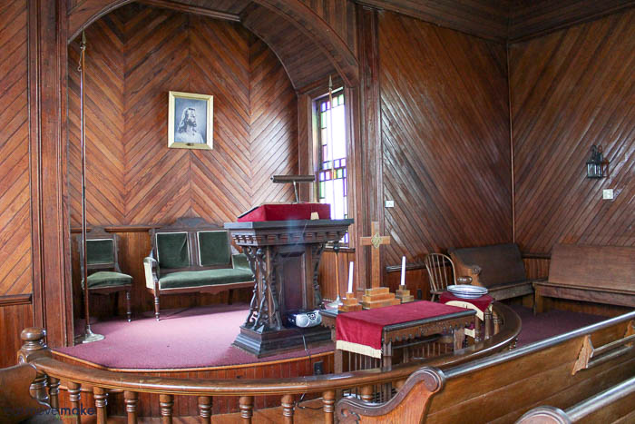 paneling in Whitehaven church