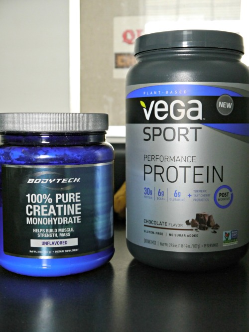 Vega sport protein and creatine