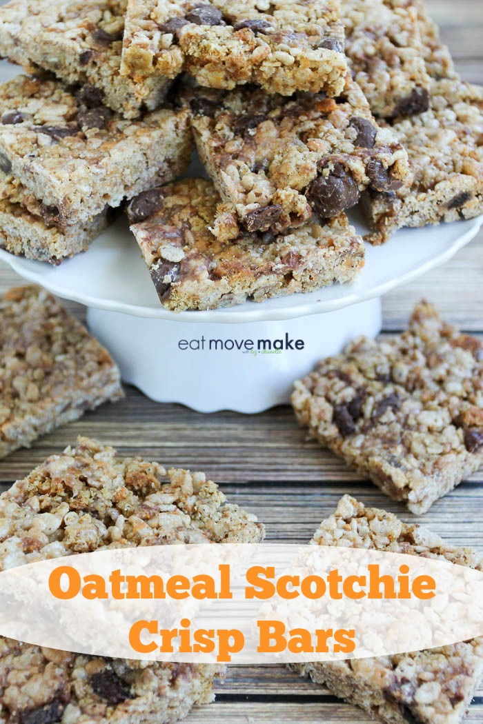 Oatmeal Scotchie Crisp Bars
