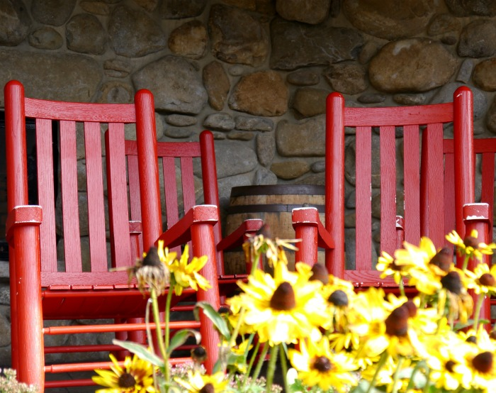 Park Grill Gatlinburg rocking chairs