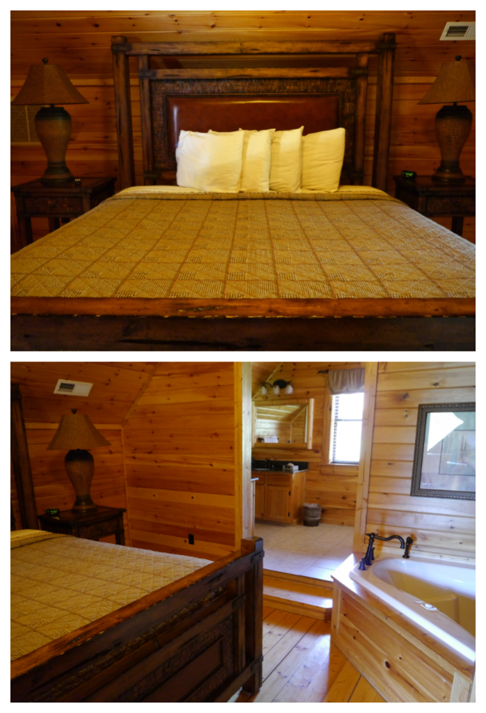 White Oak Lodge Resort cabin master bedroom