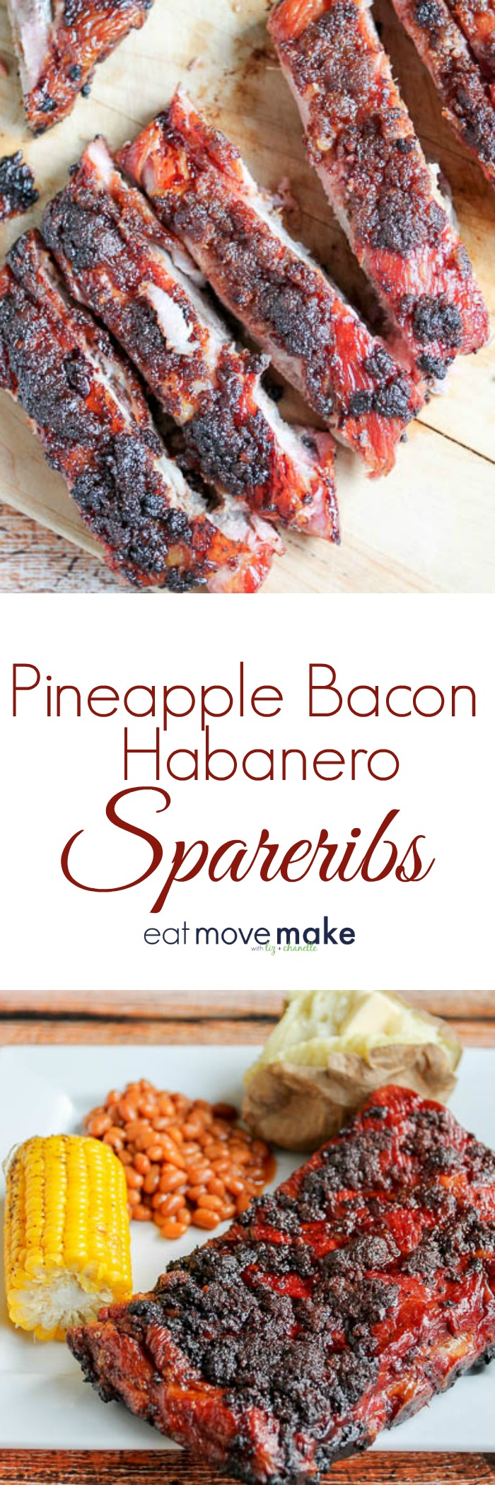 Pineapple Bacon Habanero Spareribs
