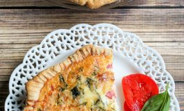 Caprese Quiche with Meatballs