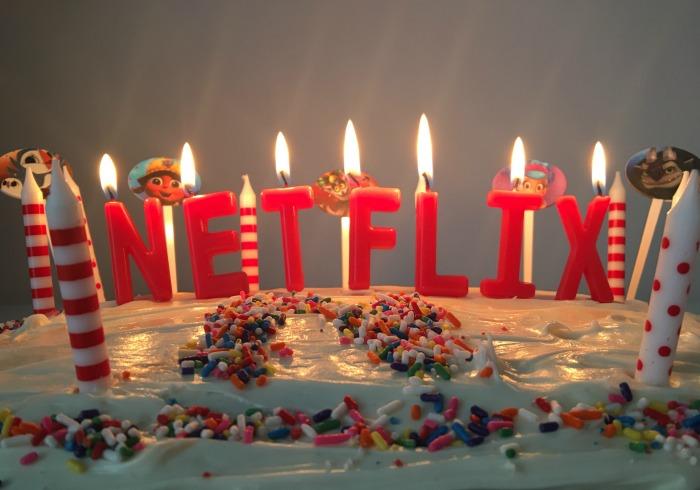Netflix birthday cake