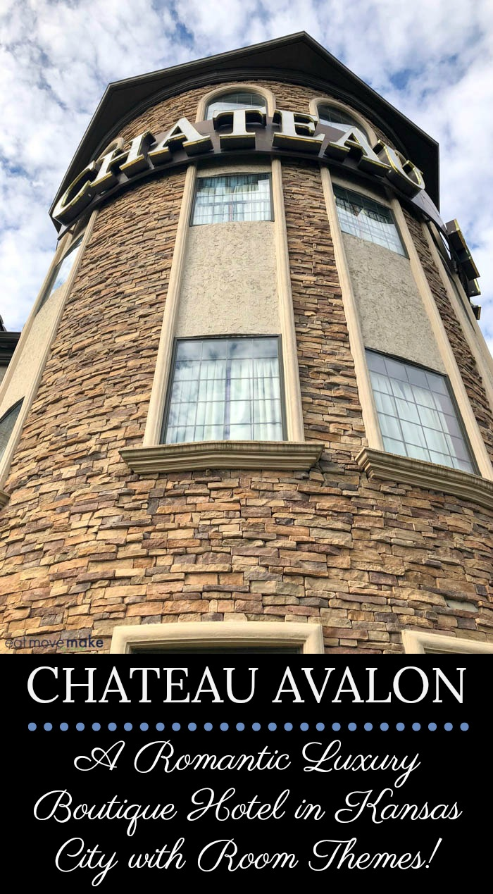 Chateau Avalon, a luxury boutique hotel in Kansas City, KS you'll never forget. Inside the French-style mansion, there are 61 rooms and suites with 23 uniquely themed romantic escapes to just about any exotic destination you can imagine.
