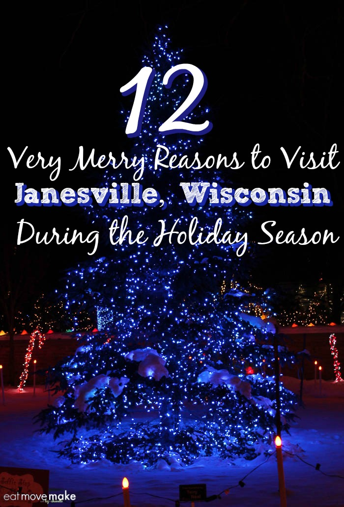 Very merry reasons to visit Janesville, Wisconsin during the holiday season. It's the Midwest's magical winter wonderland!