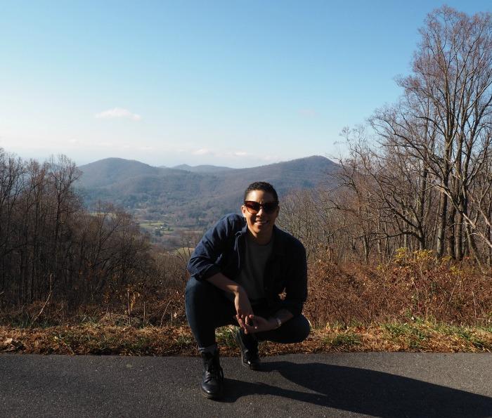 Asheville Blue Ridge Parkway selfie