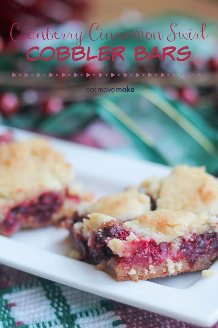 Cranberry Cinnamon Swirl Cobbler Bars