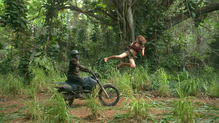 Karen Gillan star in JUMANJI: WELCOME TO THE JUNGLE.