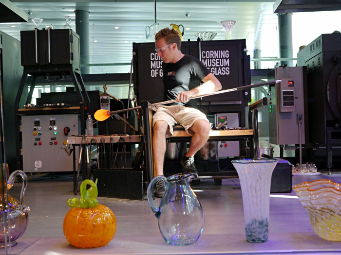 Corning Glass Museum glass blowing demo