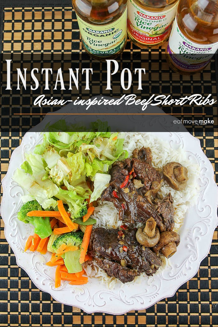 Instant pot beef short ribs with a healthy Asian twist is ready in about an hour. Served over rice, this pressure cooking meat recipe is a big winner!