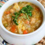 Creamy Vegan Cauliflower and Rice Soup