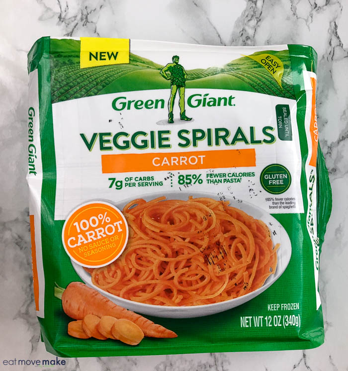 Green Giant carrot spirals