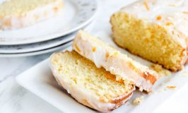 Orange-Lemon Pound Cake with Citrus Cream