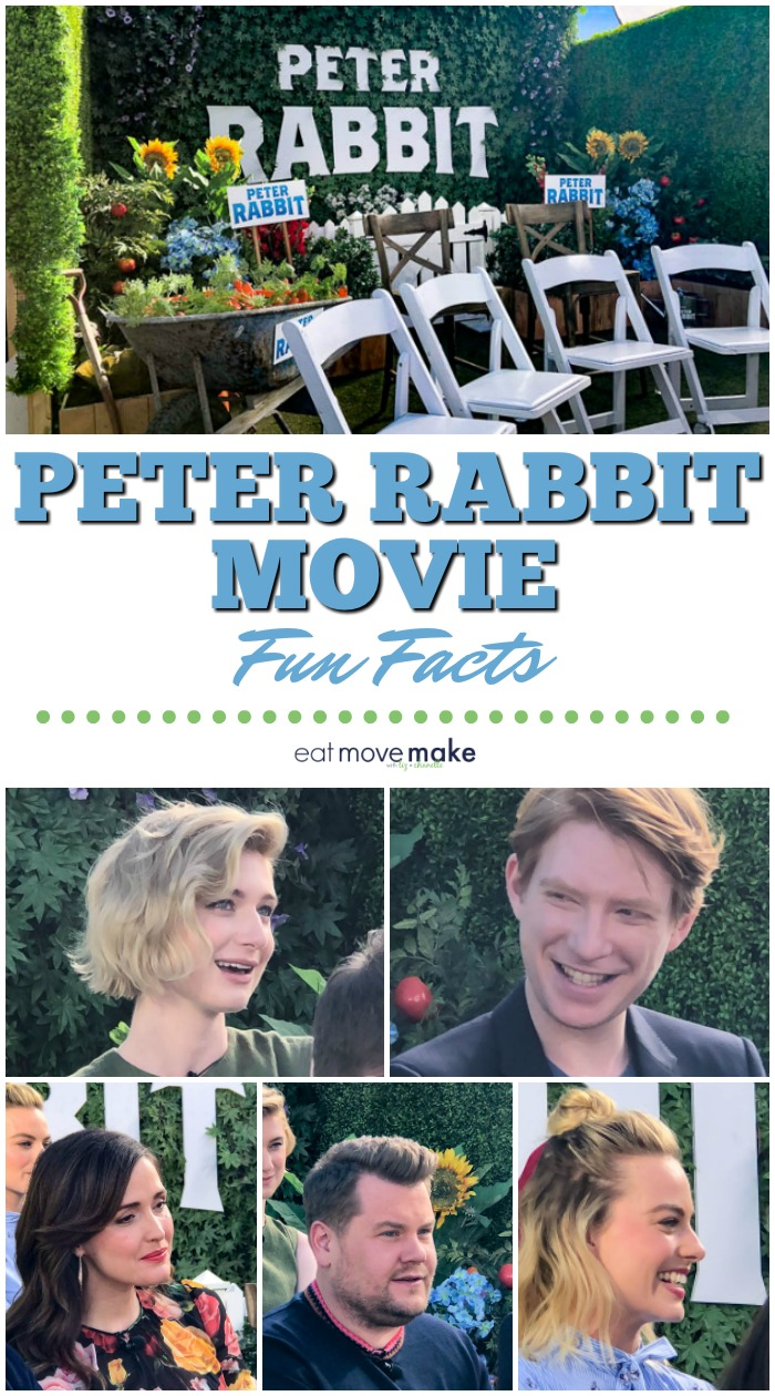 fun facts about Peter Rabbit film - cast insights