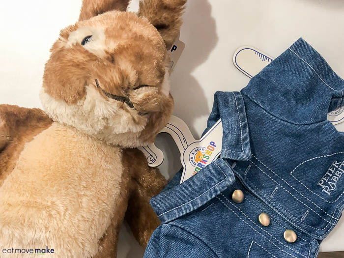 Peter Rabbit classic blue jacket at Build a Bear