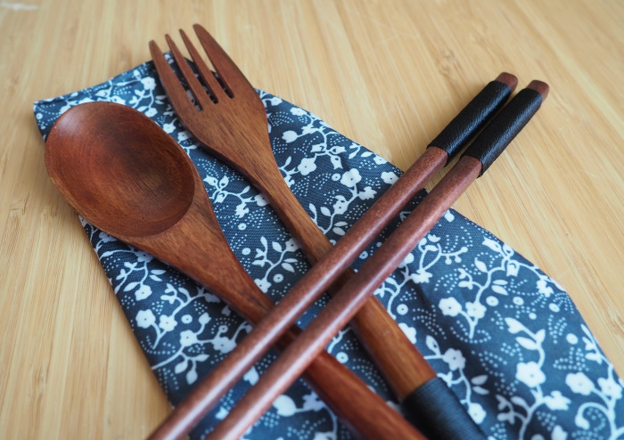 Wooden eating utensils